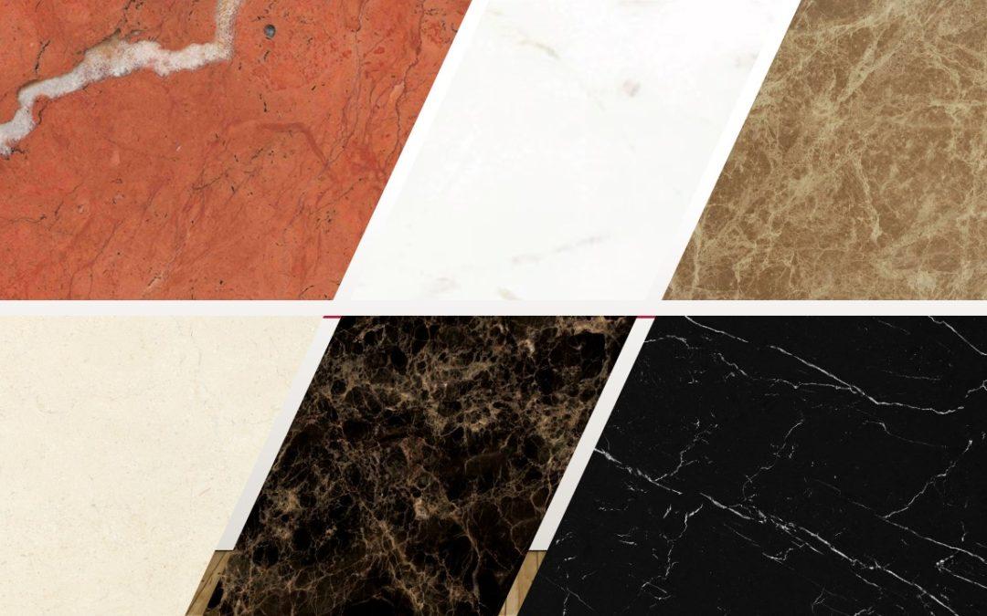¿Cuántos tipos de mármol existen? Os dejamos la guía con las distintas clases para todo tipo de superficies